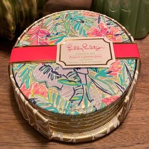 Lilly Pulitzer Coasters Set of 4 NWT